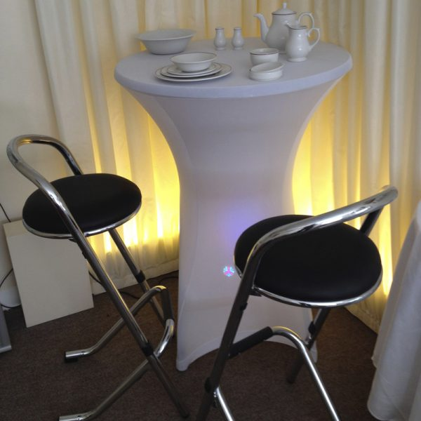 Poseur Table Cover ( White not including table )