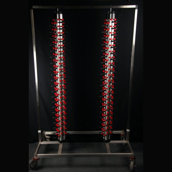 Mobile double jack stack / plate rack