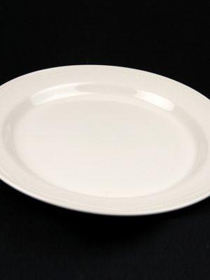 "DINNER PLATE 11""WHITE CROCKERY HIRE"