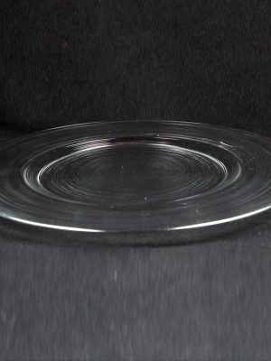 Glass Charger Plate Round Eclipse
