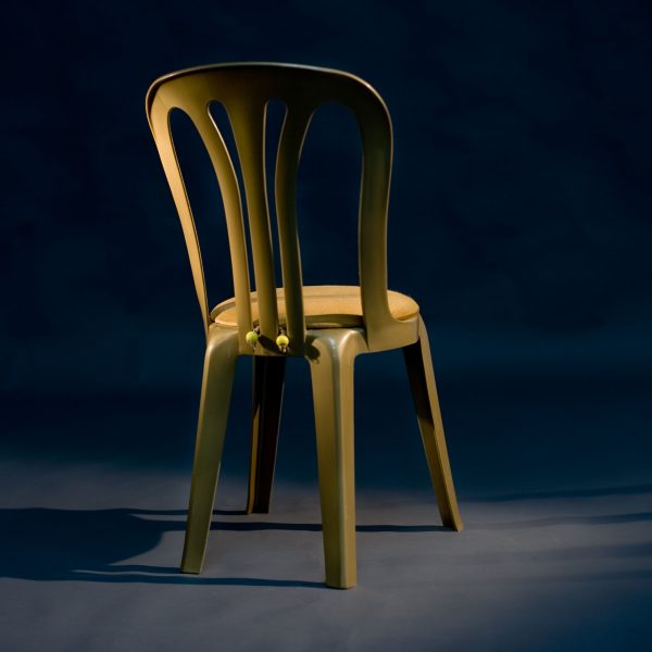 Gold Miami Chair with Gold Round Seat Pad 2