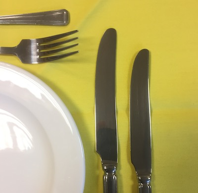 """YELLOW LINEN TABLECLOTH 128"""" ROUND"""