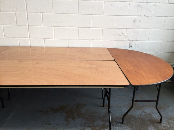 Oval Top Table Hire 3